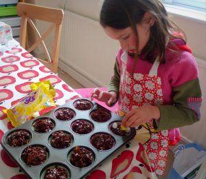 child cornflake baking