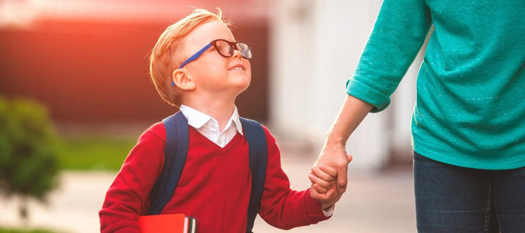 parent helping their child through back-to-school nerves