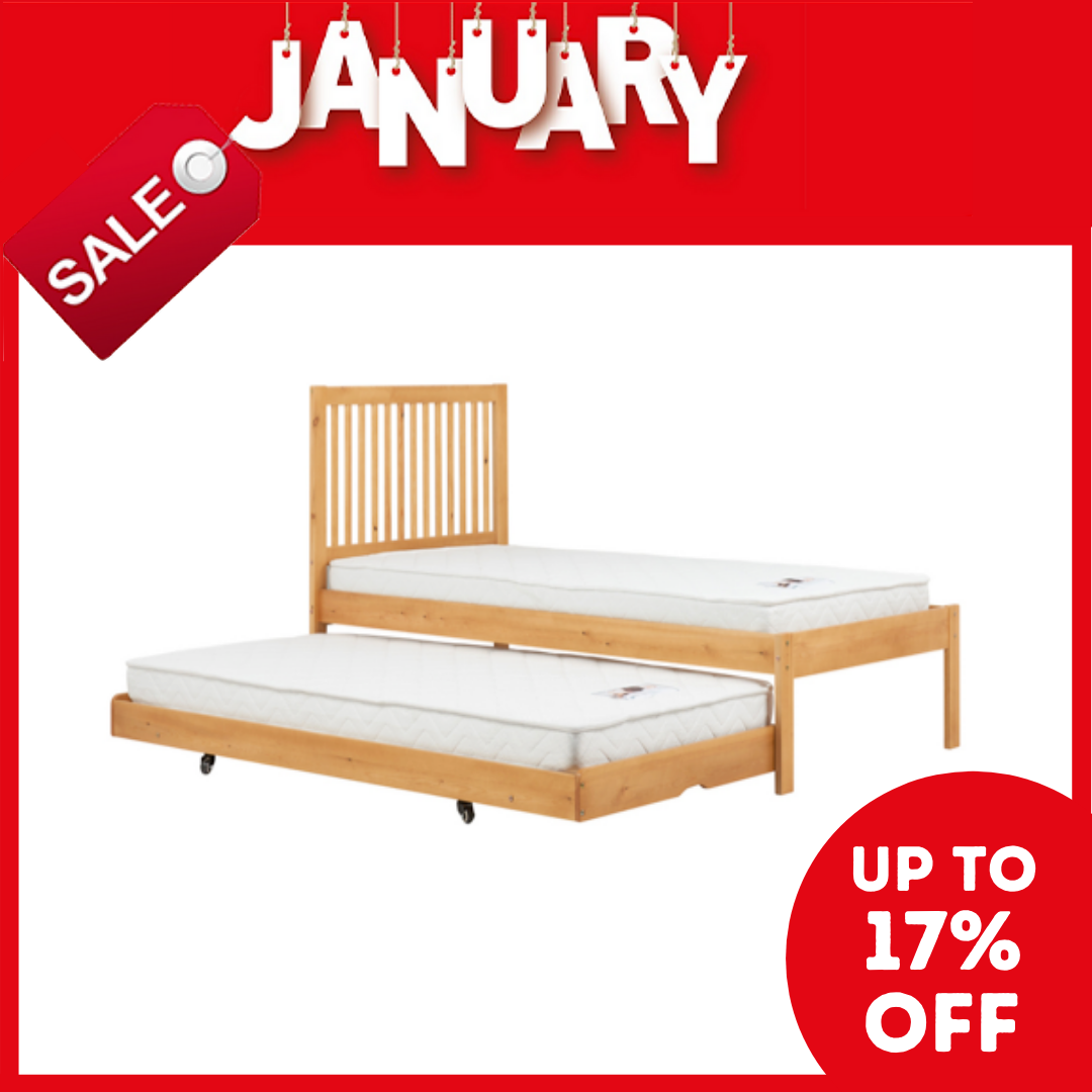 Brixton Single Bed with Trundle