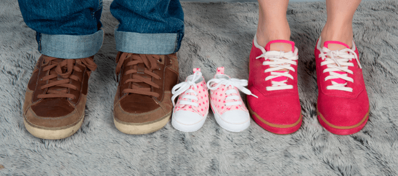 parents shoes and baby shoes