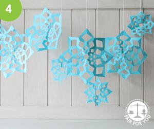 Hanging Paper Snowflakes