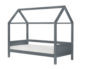 Grey House-Shaped Bed