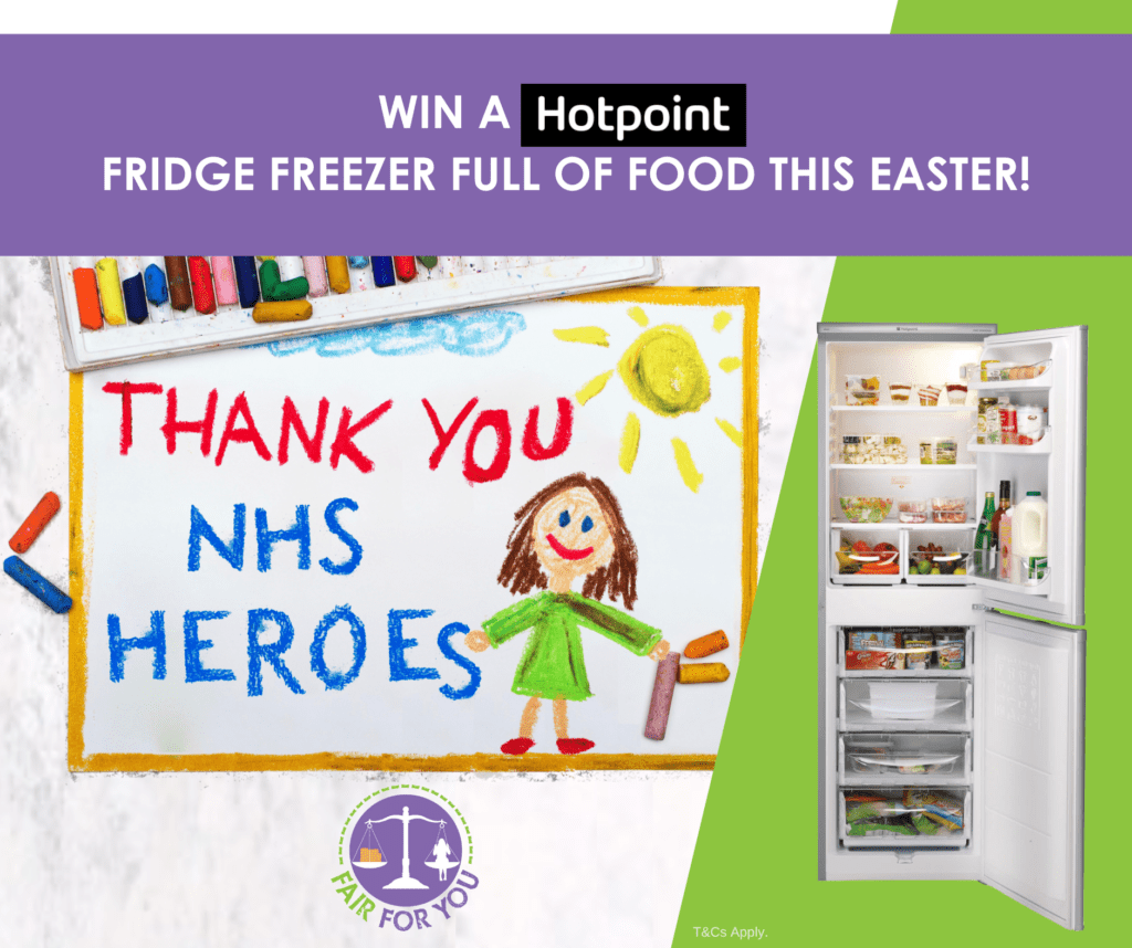 Poster for Thank you NHS Heroes FFY Easter Competition in partnership with Hotpoint