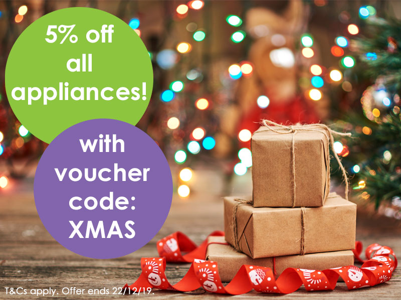 5% off all appliances with voucher code XMAS