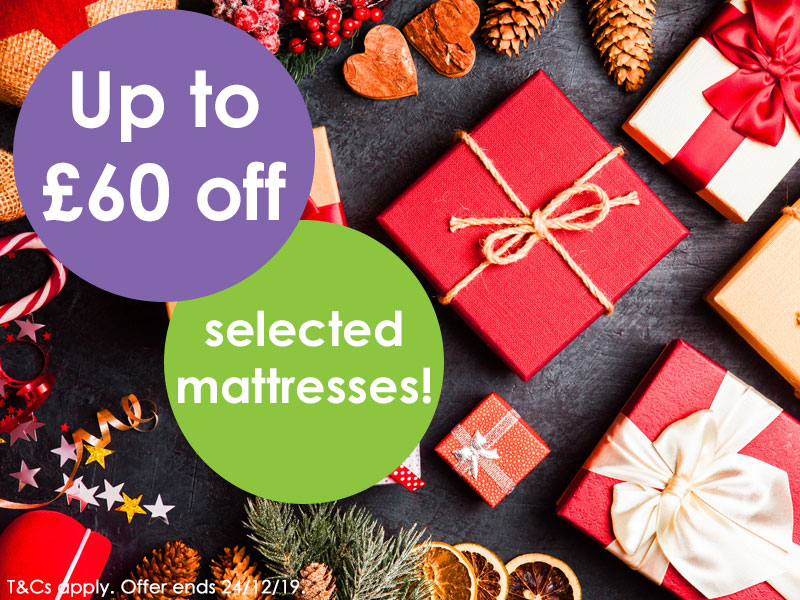 Up to £60 off selected mattresses